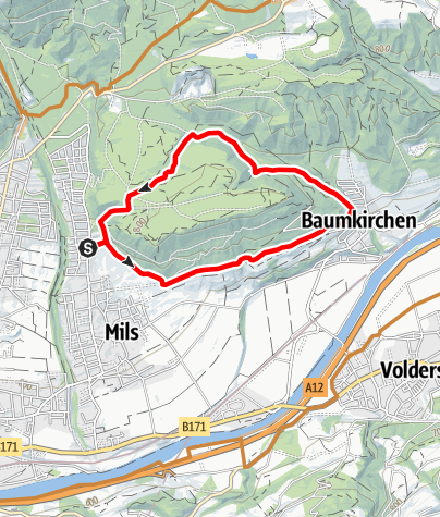 Karte / Mils Baumkirchen retour