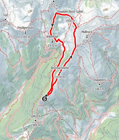 Karte / Rote Burg und Pfannsee Wanderung