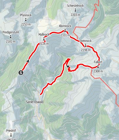 Karte / 5 Gipfel-Tour