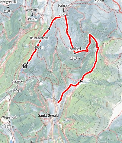 Karte / Oswaldeck Tour