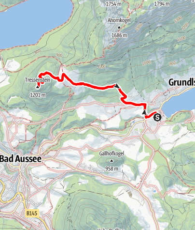 Map / Mondi Holiday Grundlsee - Tressenstein mit Warte