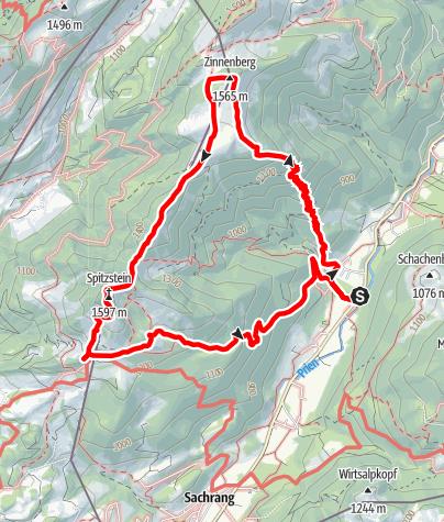 Karte / Zinnenberg and Spitzstein from Innerwald