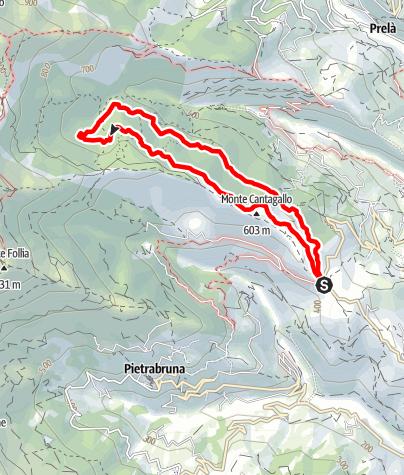 Karte / Rundweg Trincheri Ligurien