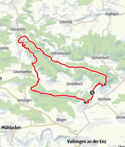 Karte / Trail-Rundtour-Horrheim-Sternenfels