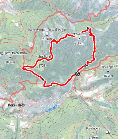 Karte / Bärenfalle-Hammerwand-Tschafon