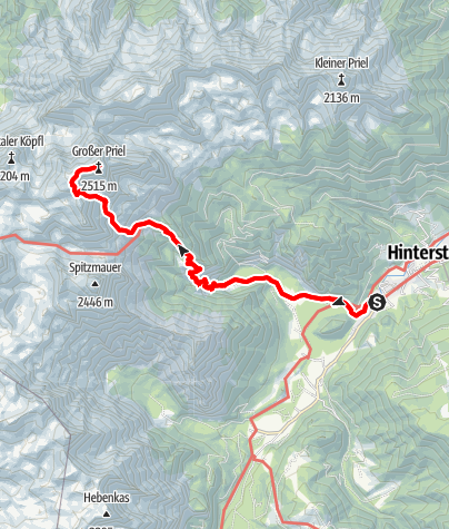 Karte / Großer Priel als Tagestour vom Stodertal