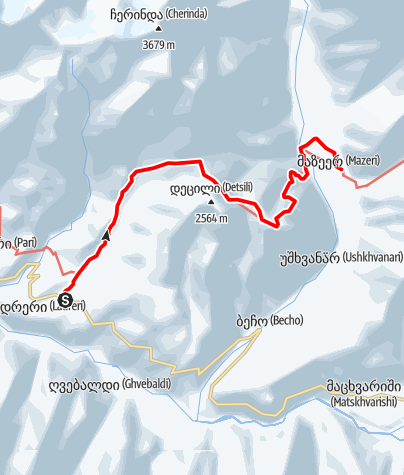 Map / Georgia - Lanteli-Barshi-Detsili-Mazeri