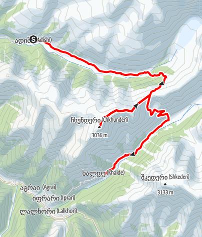 Map / Georgia-Adishi-Chkhunderi-Khalde