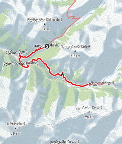 Map / Georgia-Khalde-Iprali-Ushguli
