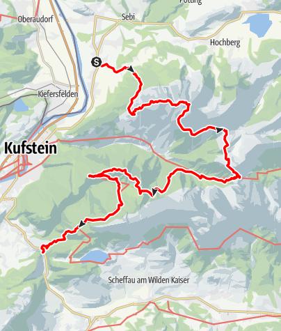 Map / Kaisertour 4 Tage