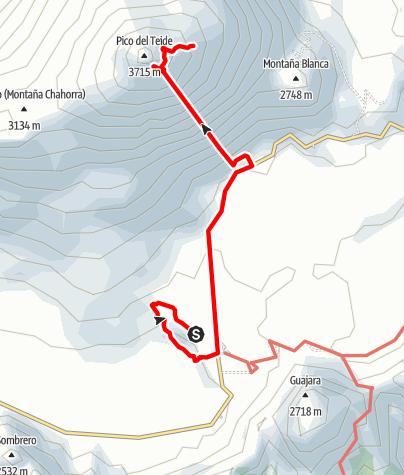 Map / Tenerife - Las Canadas - Pico de Teide trek