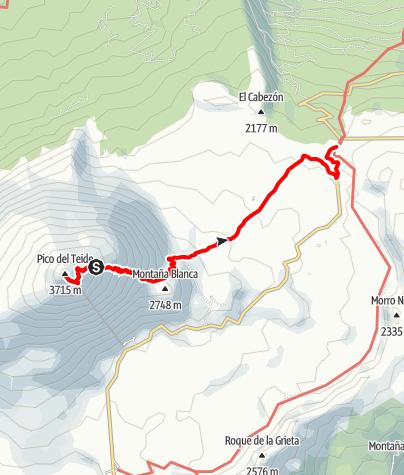 Map / Tenerife - Pico de Teide - El Portilo trek