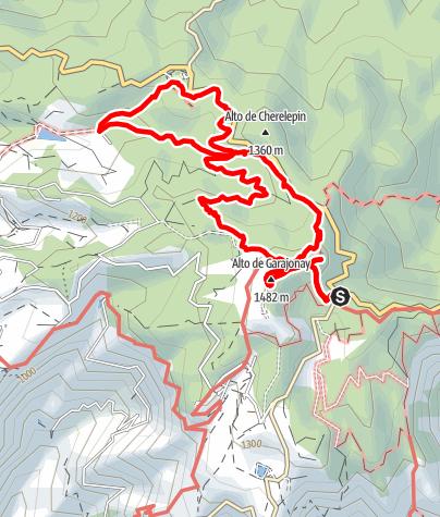 Map / La Gomera - Pajarito - Alto de Garajonay - Laguna Garande trek