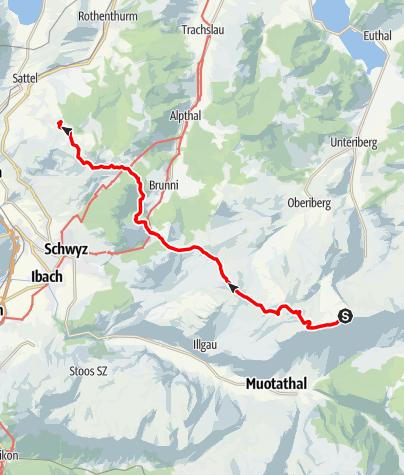Karte / vom Hoch-Ybrig zum Hochstuckli