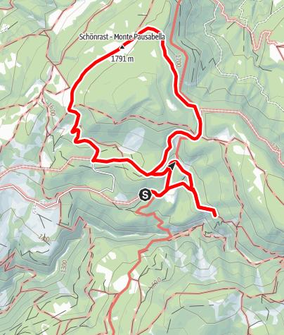 Karte / Almtour bei Bletterbachschlucht