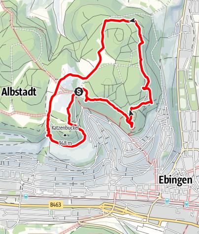 Karte / Ochsenbergtour mit Abkürzung