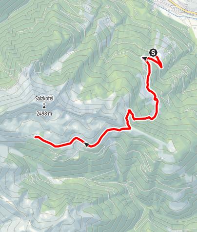 Karte / Kreuzeck-Höhenweg - Etappe 1: Kolbnitz - Salzkofelhütte