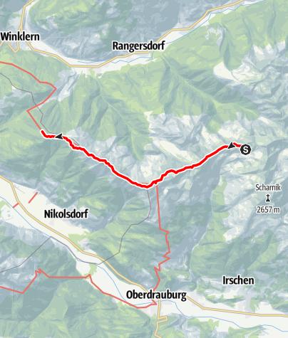 Karte / Kreuzeck-Höhenweg - Etappe 4: Hugo-Gerbers-Hütte - Anna-Schutzhaus