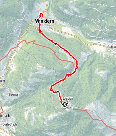 Karte / Kreuzeck-Höhenweg - Etappe 5: Anna-Schutzhaus - Winklern
