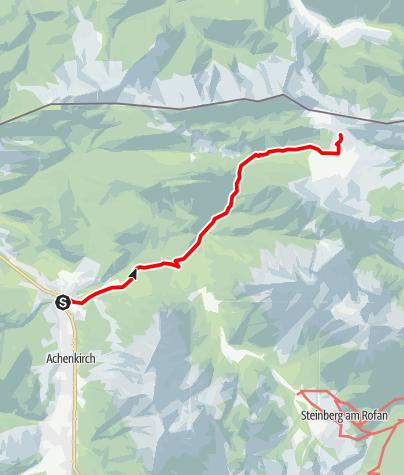 Karte / Gufferthütte - Zustieg von Achenkirch