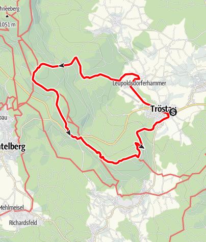 Karte / Von Tröstau zum Seehaus