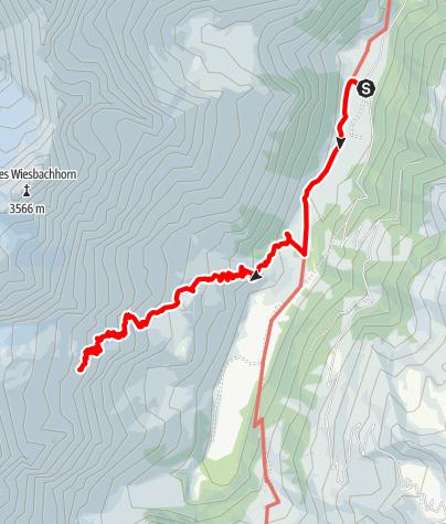 Karte / Schwarzenberghütte, 01.08.2016