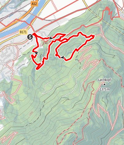 Karte / Rotholz: Ruine der Burg Rottenburg über Raffl Rundwanderung