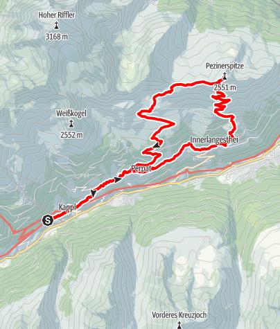 Karte / Pezinerspitze