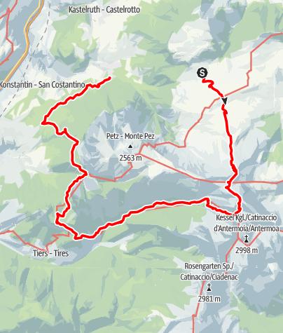 Karte / Kompatsch-Tierser Alpl-Tschafon-Völser Weiher