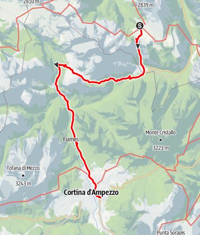 Karte / 3. Etappe Plätzwiese - Ra Stua Alm