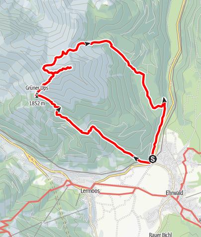 Map / Rundtour Grüner Ups Upsspitze und Daniel