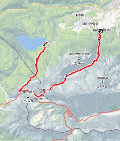 Karte / Zugspitze  03.09.2016