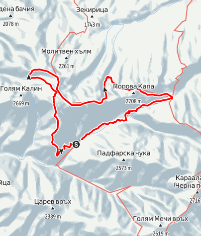 Karte / Three day hike in the Rila Mountains, Bulgaria