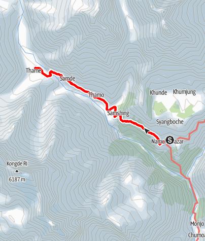 Map / Namche-Thame-Namche