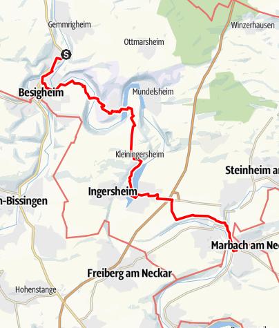 Karte / Besigheim - Marbach am Neckar
