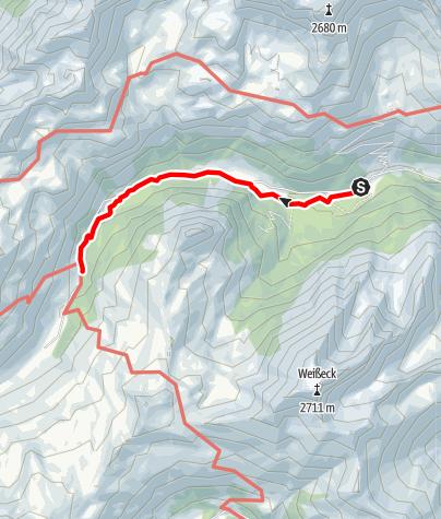 Karte / Almenweg Naturpark Riedingtal