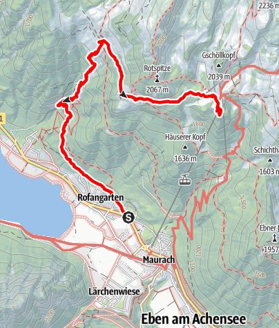 Karte / Dalfazer Wasserfallklettersteig