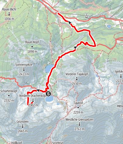 Karte / 2 Tagestour zur Coburger Hütte (2.Tag)