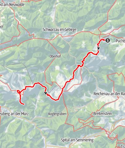 Karte / Schneeberg-Rax-Schneealpe