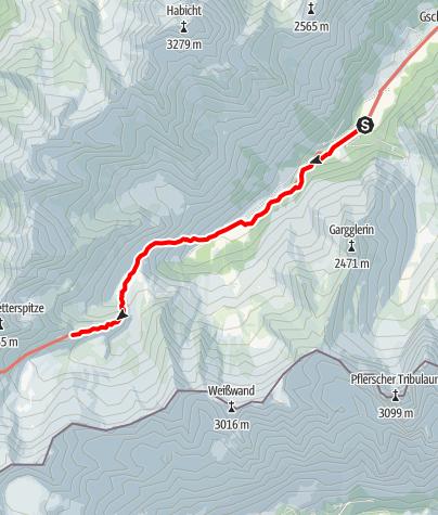 Map / Bremer Hütte - Zustieg von Gschnitz