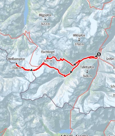 Karte / Weißseespitze und Fluchtkogel
