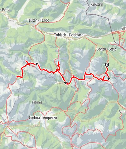 Karte / Ost-West Querung nördl. Dolomiten