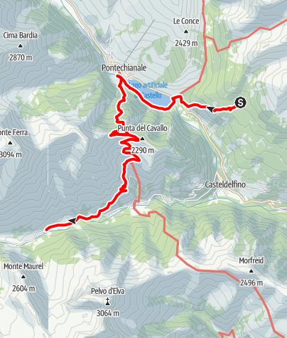 Karte / GTA-Etappe: Rifugio Bagnour - Chiazale (2016)