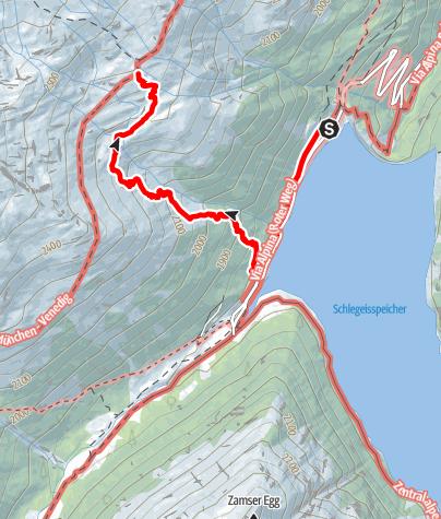 Karte / Olpererhütte vanaf Dominikushütte