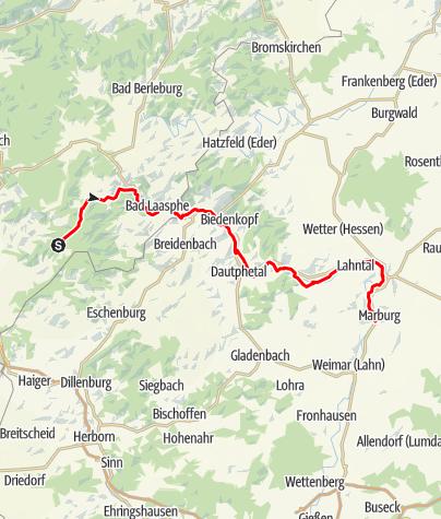 Karte / Lahnhof - Marburg am 18.9.2016