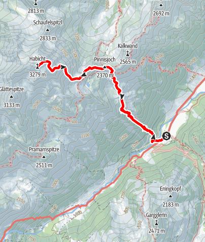 Map / Habicht (Stubai) 3.277m