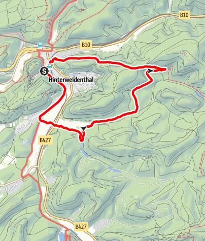 Map / Pfälzer Rundwanderung mit Einkehr - Brauhaus Ehrstein