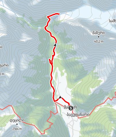 Map / Mazeri-Ushba-Glacier
