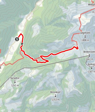 Karte / Priener Hütte - Zustieg von Huben