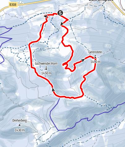 Karte / Immenstädter Horn